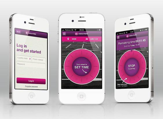 Slik ser iOS-versjonen av EasyPark-appen ut.