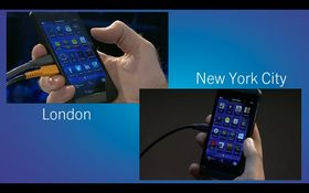 Hvis du vil kan du også dele mobilskjermen din via BlackBerry Messenger.