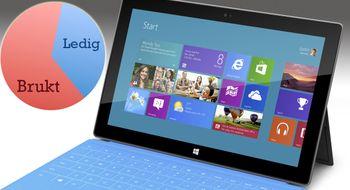 Surface Pro får mindre kapasitet enn du tror