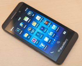 Slik ser BlackBerry Z10 ut forfra. Stilren er et ord som melder seg.