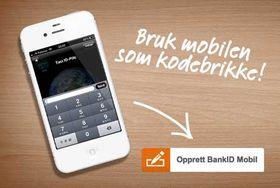 Bank ID på mobil.