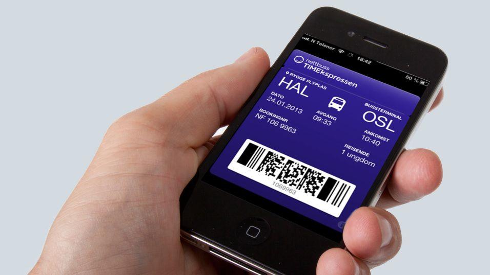 Første norske busselskap på iPhones billettsystem