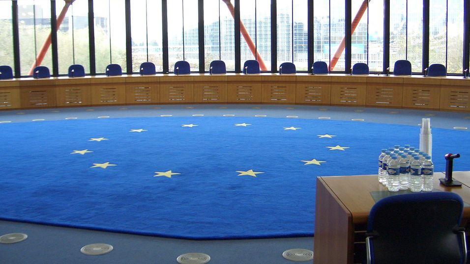 Rettssal i Den europeiske menneskerettsdomstol.