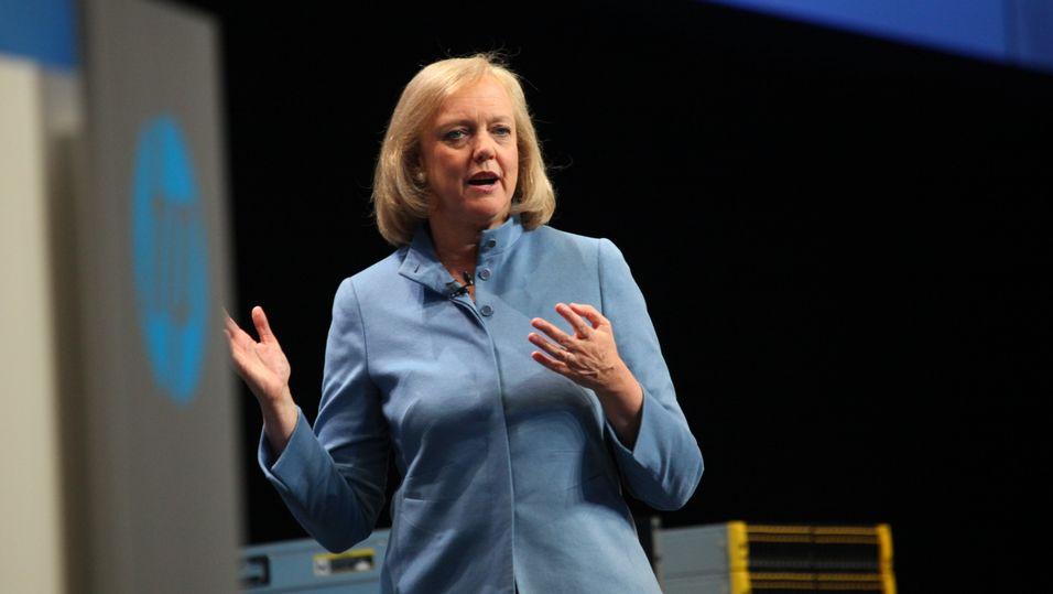 HPs toppsjef Meg Whitman under et arrangement i Frankfurt 2012 (arkivfoto).