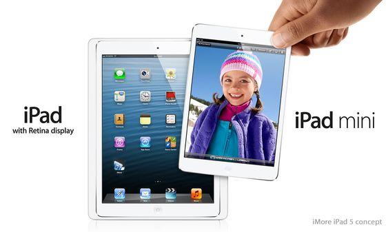 Slik kan den nye iPad mini og iPad 5 komme til å se ut, ifølge iMore.