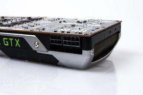 Skjermkortet trekker ikke så mye strøm, og trenger bare 1 x 6-pins og 1 x 8-pins PCIe-strømtilførsel.