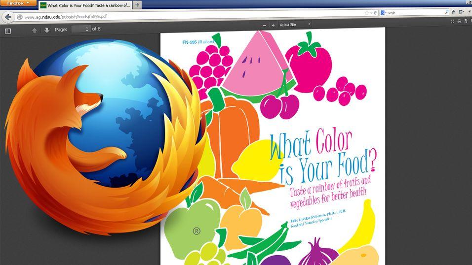 Firefox 19 kan skilte med innebygd PDF-leser.