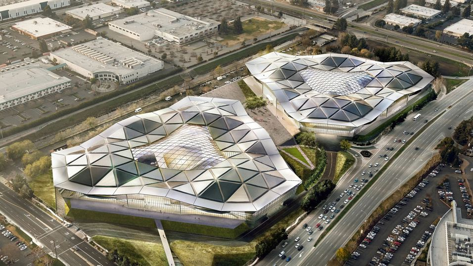 Nvidias nye hovedkontor i Silicon Valley.