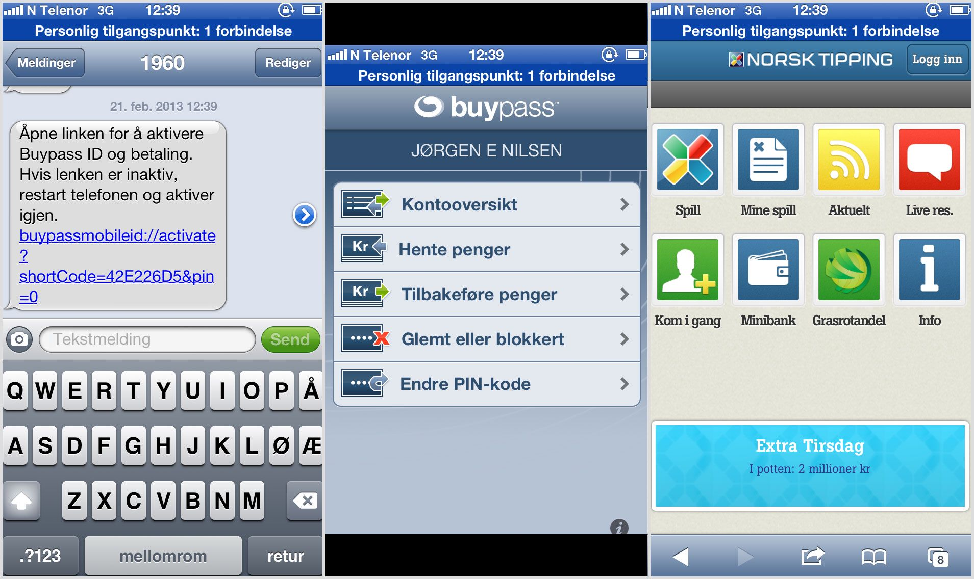 Buypass kortleser norsk tipping