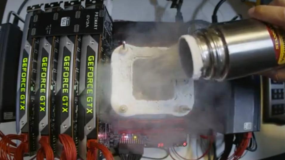 Overklokkeren « Kingpin» har satt flere rekorder med GeForce GTX Titan.
