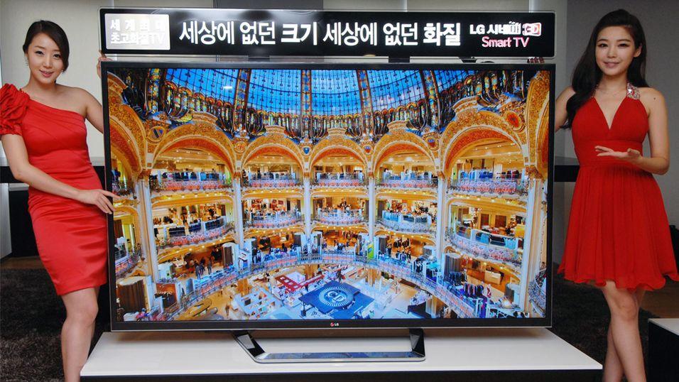 En rekke produsenter kutter nå prisen på 4K-TVene sine. Her er en av LGs nye modeller.