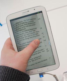 E-bokleseren på Galaxy Note 8.0.