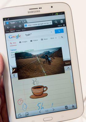 På Galaxy Note 8.0 kan du gjøre tre ting samtidig.