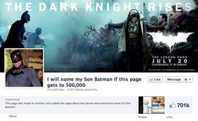 Skrekkscenarioet er dette: At sønnen din må hete Batman.