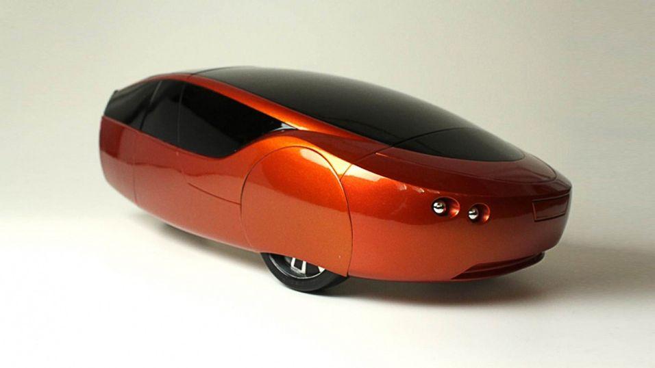 Urbee 2 har en stilren og avrundet design, og er dessuten skrevet ut av en 3D-printer.