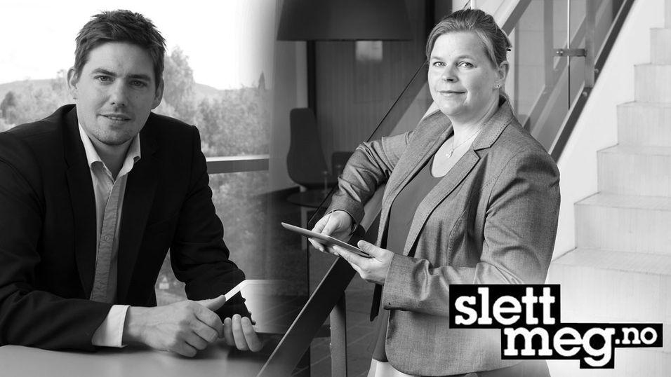 Hans Marius Tessem og Peggy Sandbekken Heie fra NorSIS stiller til nettmøte.