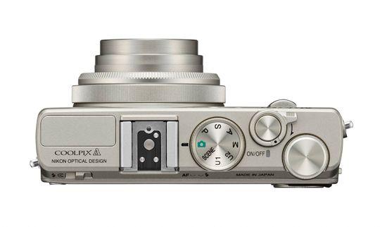 Toppen av Nikon Coolpix A.