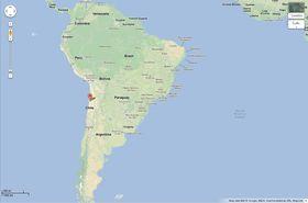 Romteleskopet vil plasseres på fjellet Cerro Armazones i Chile.