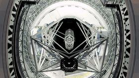 Slik skal det se ut inne i teleskopet.