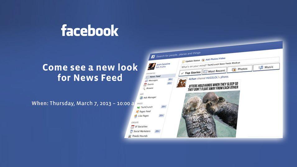 I morgen annonserer Facebook endringer til nyhetsoppdateringen.