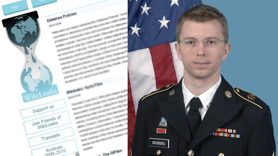 Bradley Manning ble arrestert i 2010 under mistanke om å ha lekket sensitive dokumenter til WikiLeaks. Nå er han dømt på 19 punkter, men frikjent for den groveste tiltalen.