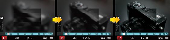 Digital Split Image fokus.