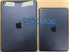 Er dette baksiden på iPad 5 (til venstre)? Det hevder nettstedet 9to5mac.com, som har fått bildene fra en kinesisk produsent av iPad-tilbehør.