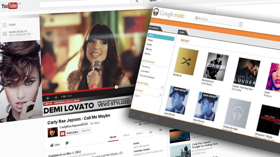 Google skal visstnok lansere to ulike musikktjenester til sommeren, basert på YouTube og Google Music.