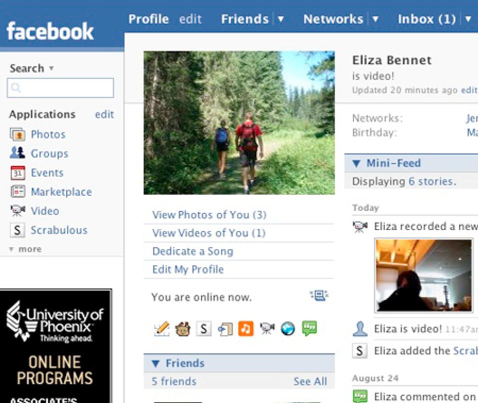 Nå bruker vi mobilen til Facebook