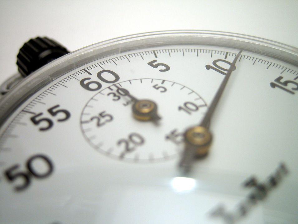 Går fra sekund- til minuttaksering