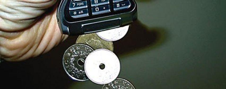 Bruker mindre euro på mobilen
