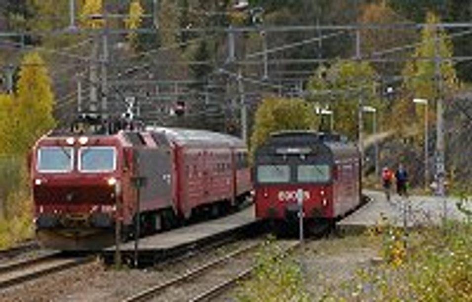 Tester mobilt internett på tog