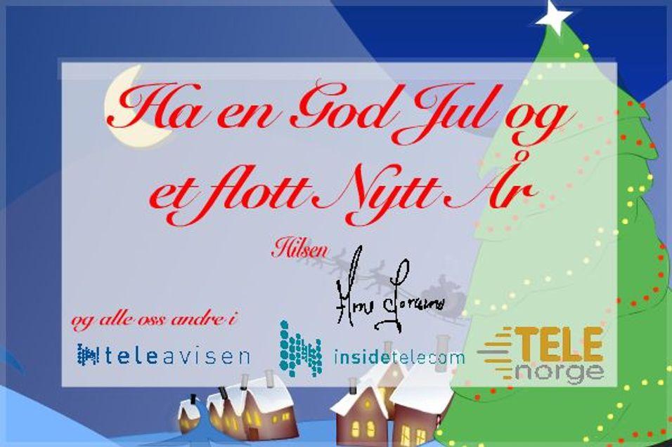 Julehilsen til alle TeleNorge-medlemmer!
