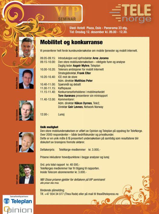 Mobilitet og konkurranse - VIP-seminar 12. desember