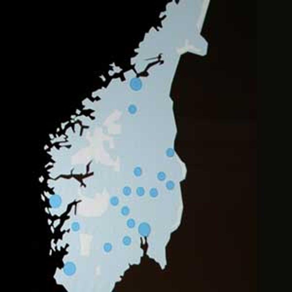 Telenor-kartet stopper ved Trondheim