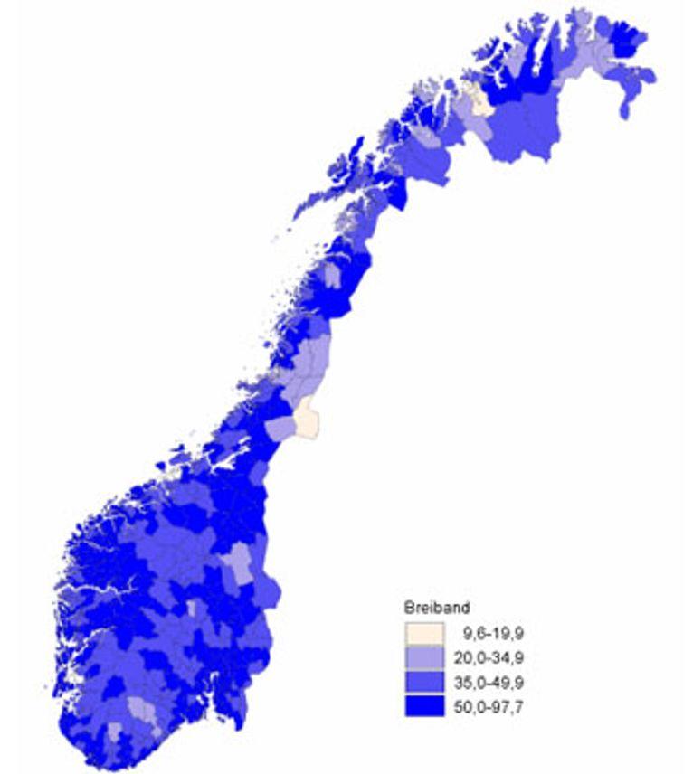 Raskere bredbånd i Rogaland og Nord-Trøndelag