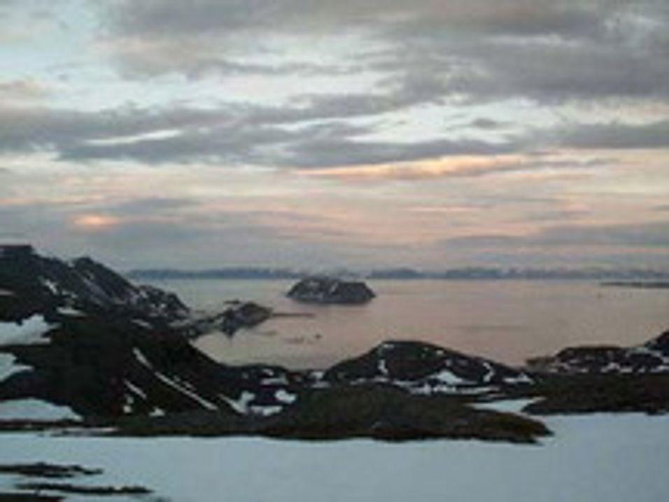 Ice-dekning langs hele Finnmarkskysten