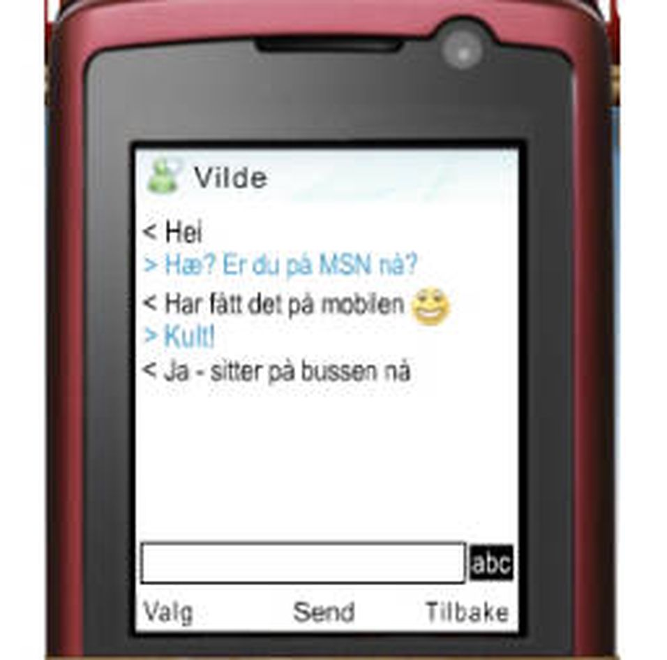 Suksess for Telenors mobil-MSN