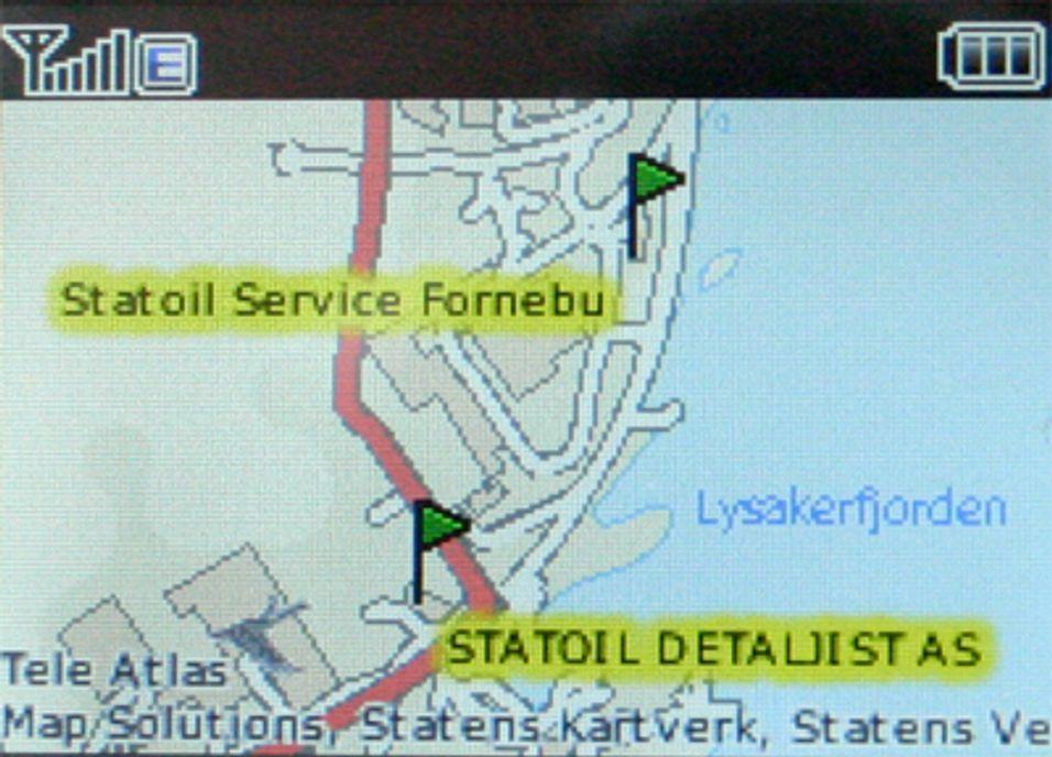 Mobil søketjeneste med lokalisering