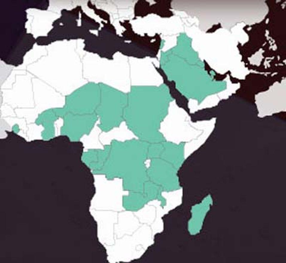 Zain Group har virksomhet i Midtøsten og store deler av Sentral-Afrika.