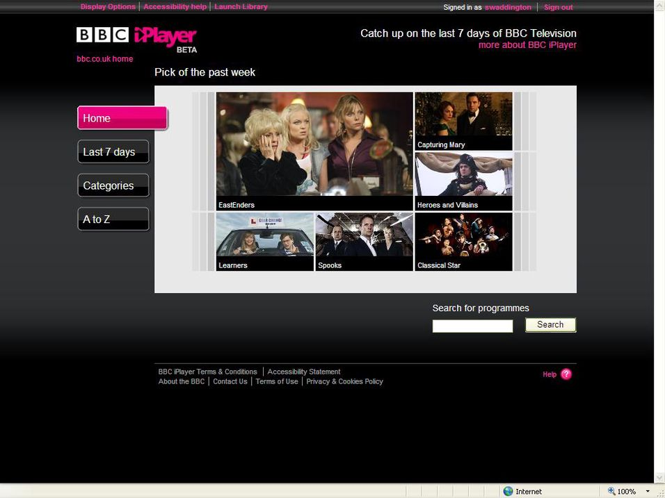 Iplayer i Vest-Europa