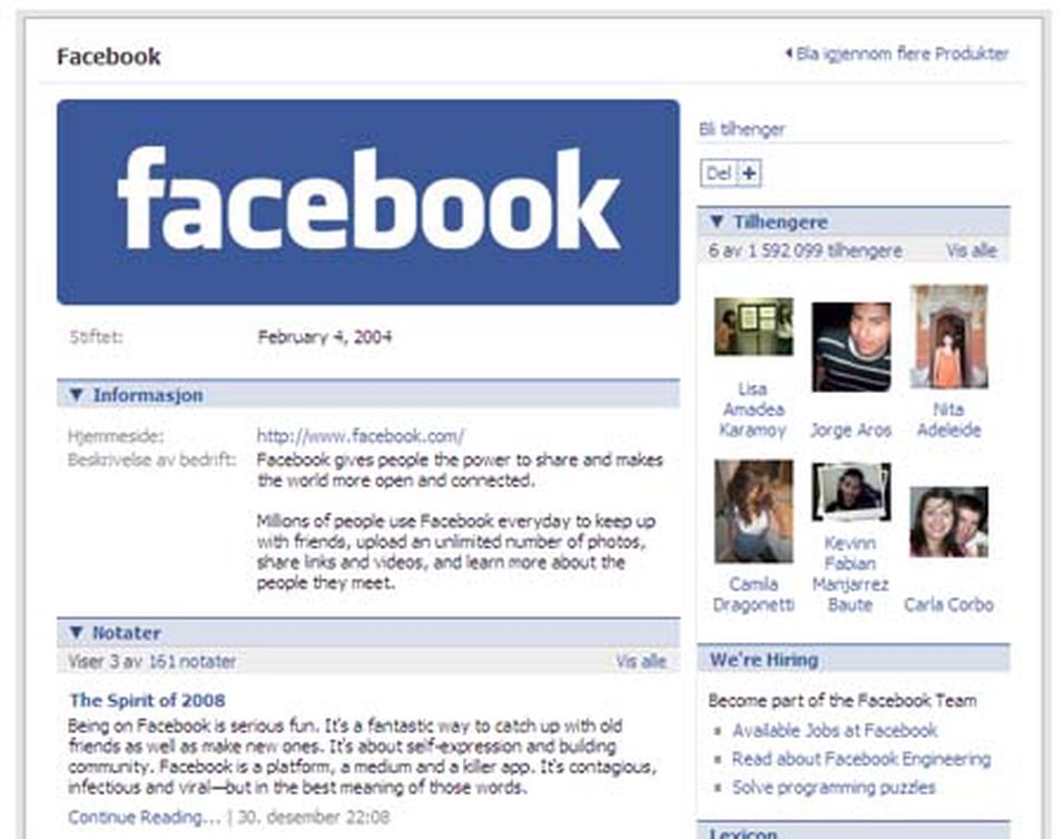 Facebook fjerde størst i verden