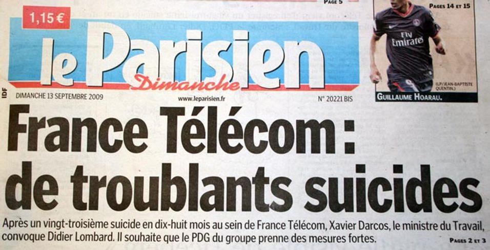 Selvmordsbølge ryster Frankrike