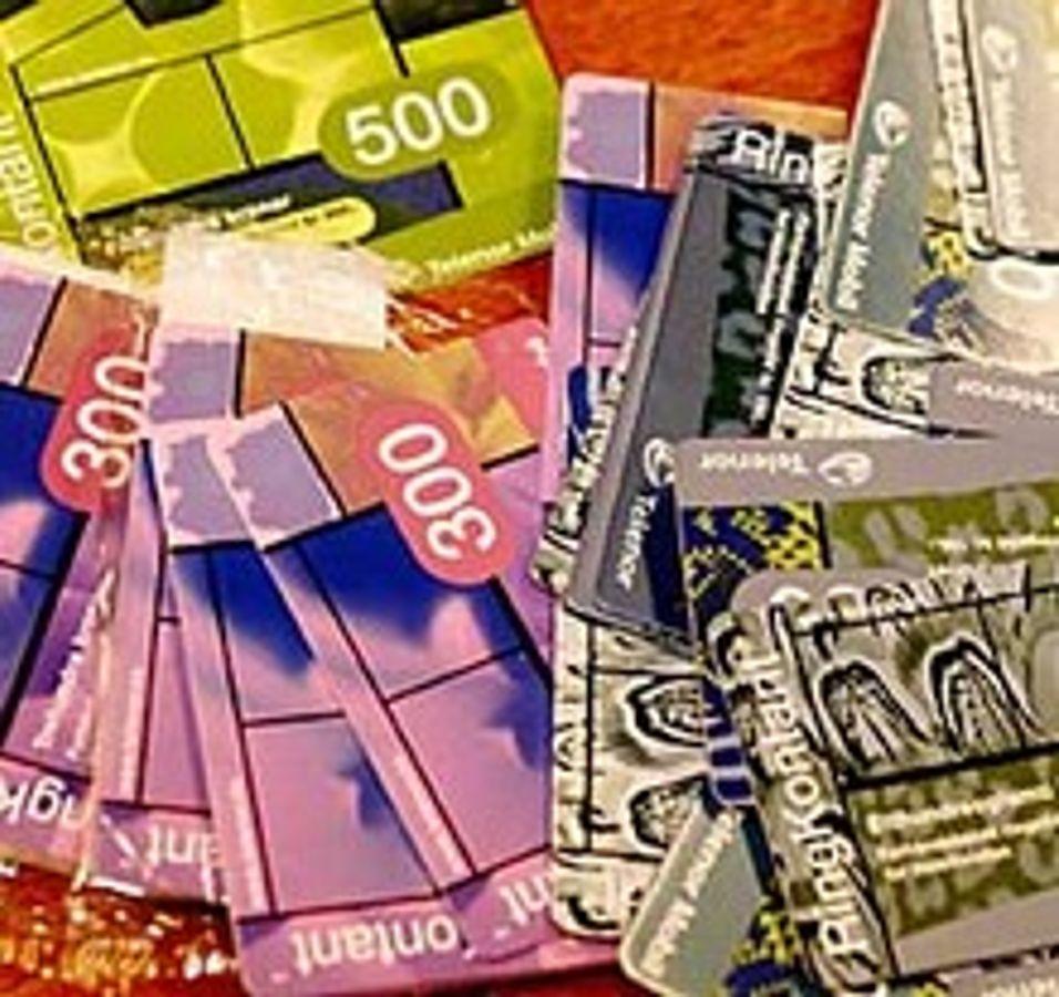 """Vil selge kontantkort til """"fjortiser"""""""