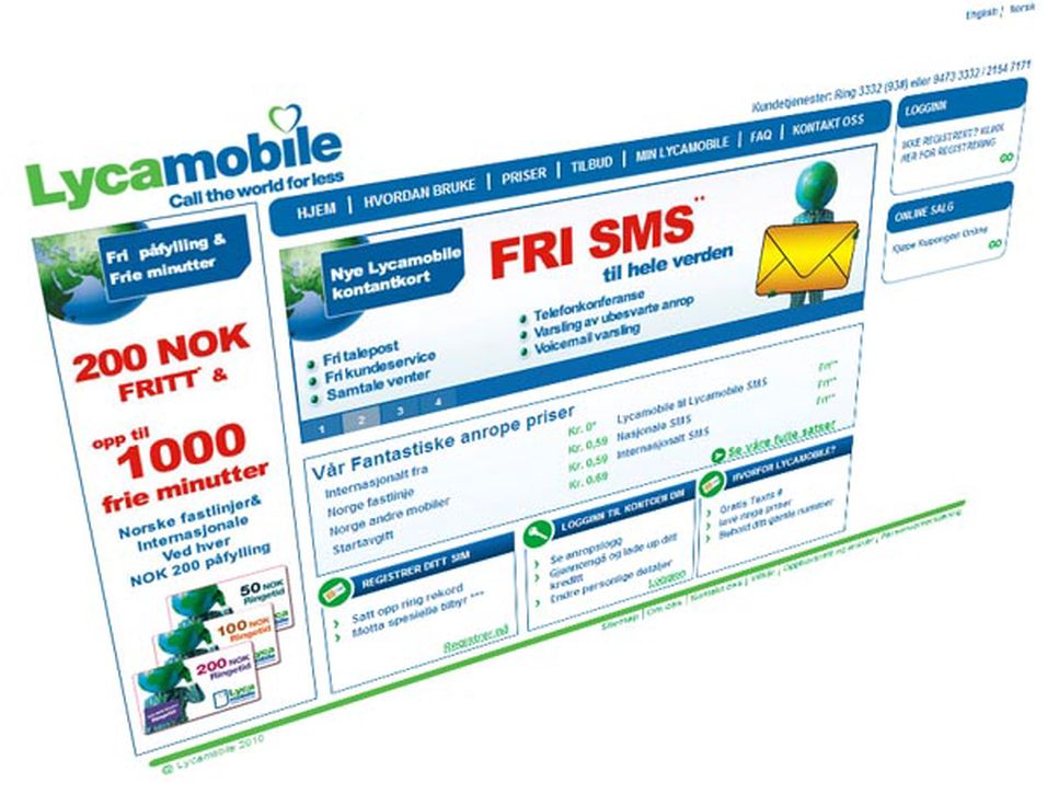 Lyca Mobile blir pålagt termineringsregulering på linje med andre mobilaktører i det norske markedet.