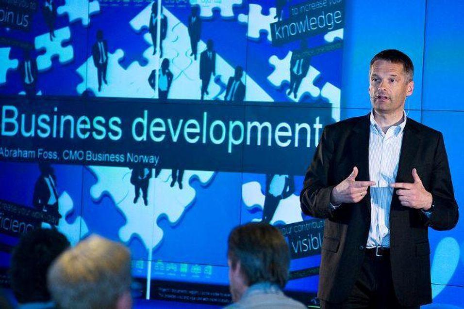 Telenors Abraham Foss, direktør for Telnors satsing mot bedriftssegmentet i Norge.