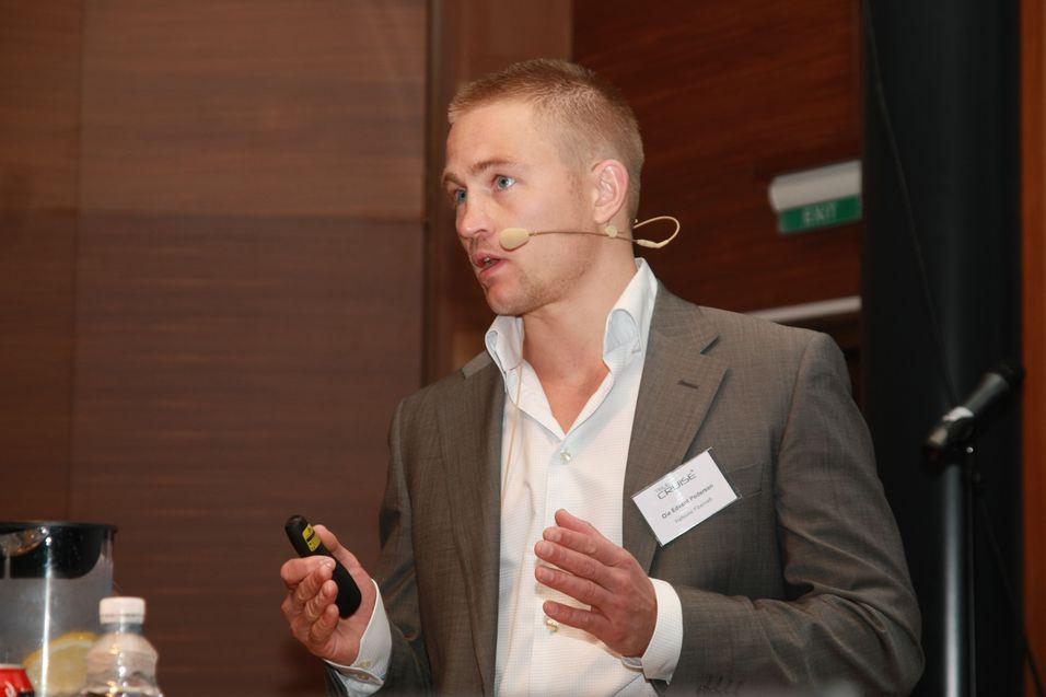 Ole Pedersen i Hafslund fibernett, her avbildet under årets Telecruise, mener selskapet hans har mye å takke Nextgentel for.
