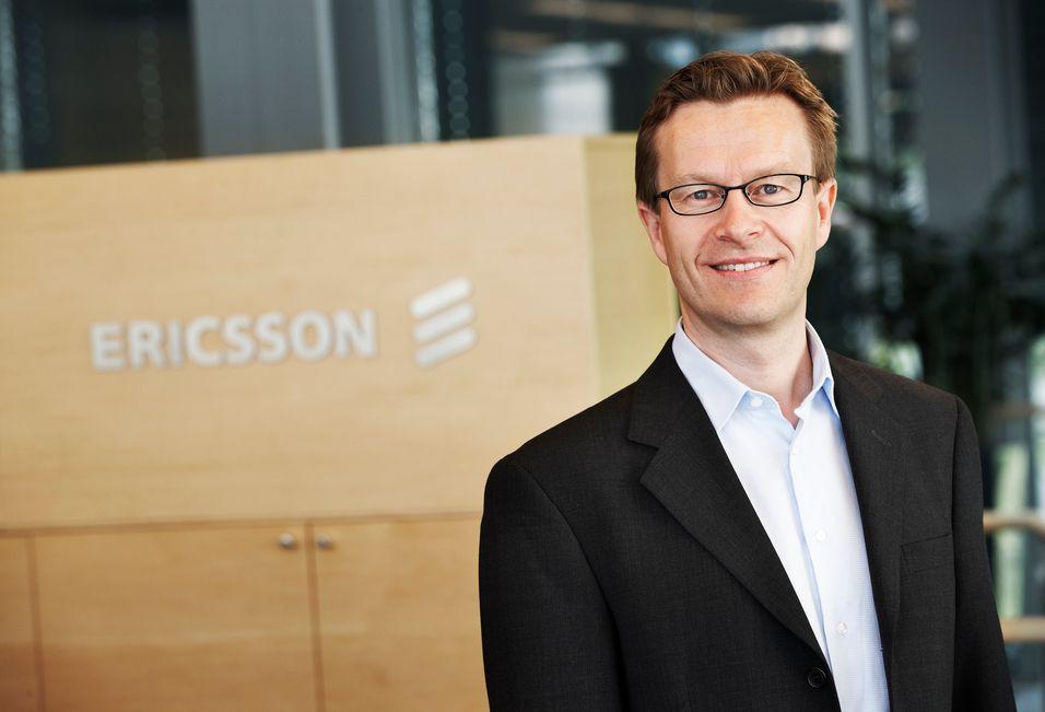 Administrerende direktør Aksel Aanensen i Ericsson Norge hadde en blandet dag på jobben i går.
