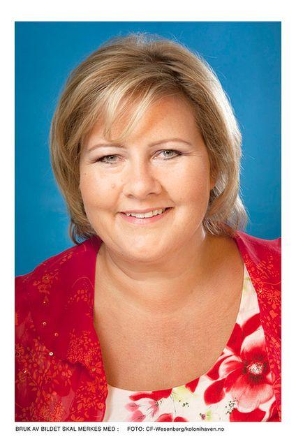 Høyre-leder Erna Solberg skal ha presset Arbeiderpartiet langt i retning av et datalagrings-kompromiss. ( Foto: Kolonihaven/C.F.Wesenberg )