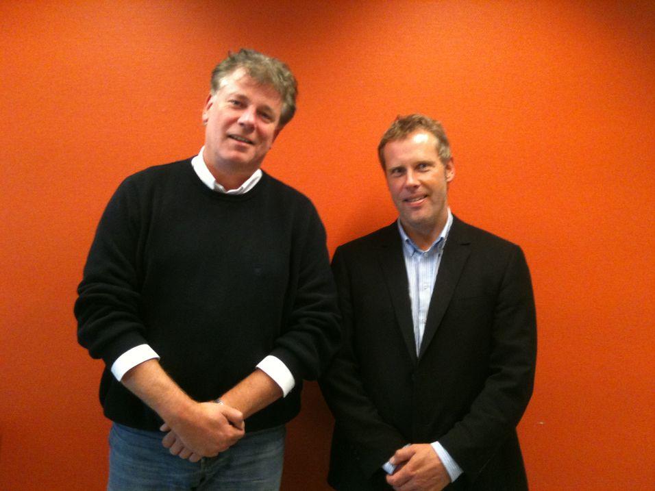 Opennets Roar Eckermann og Morten Kristiansen berøres ikke av Telenors oppkjøp av det svenske søsterselskapet.